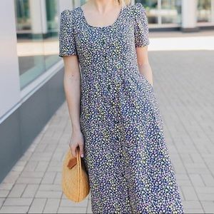 Draper James Floral Button Front Shirtdress